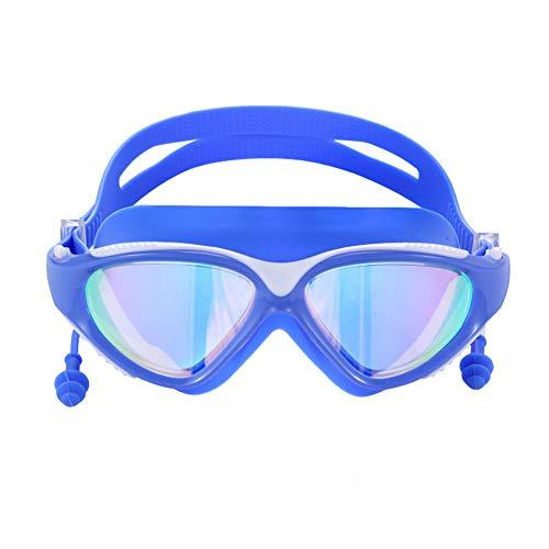 QK Gafas de natación Impermeables y antiniebla Gafas Coloridas de Marco de galjanoplastia HD Gafas de natación Ligeras para Adultos