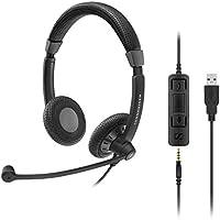 Sennheiser SC 75 USB MS dubbelzijdige UC-headset met USB-aansluiting incl. In-Line CALL Control en 3, 5