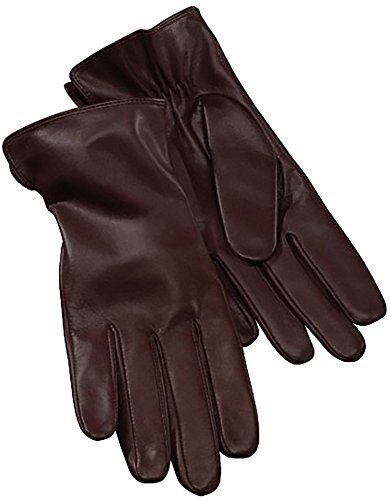 Esmara® Damen Leder-Handschuh, Nappaleder (Gr. 8 - burgund)