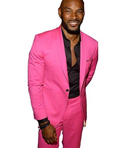 LYXP Men Linen Beach Men Suit Slim Fit 2 Piece Tuxedo Groom Prom Suits Masculino Jacket Pant L