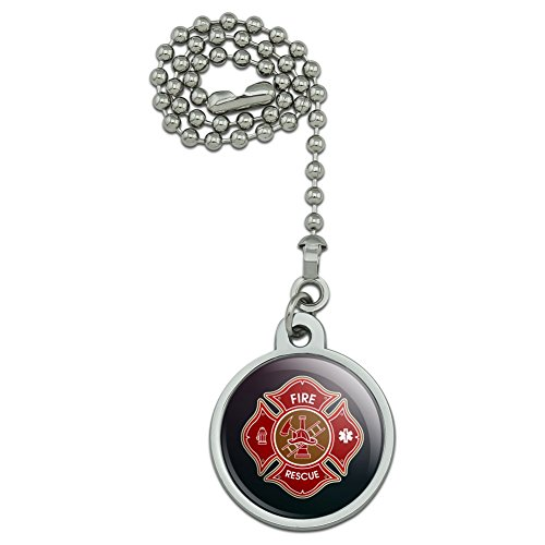 GRAPHICS & MORE Firefighter Fire Rescue Maltese Cross Ceiling Fan and Light Pull Chain