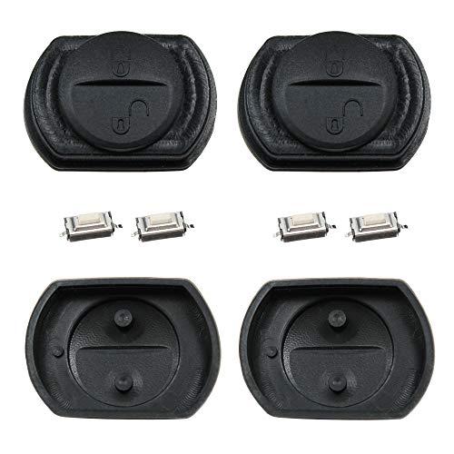 2X Schlüssel Tastenfeld kompatibel für Mitsubishi Carisma Colt & Smart Forfour W454 + 4X Mikro