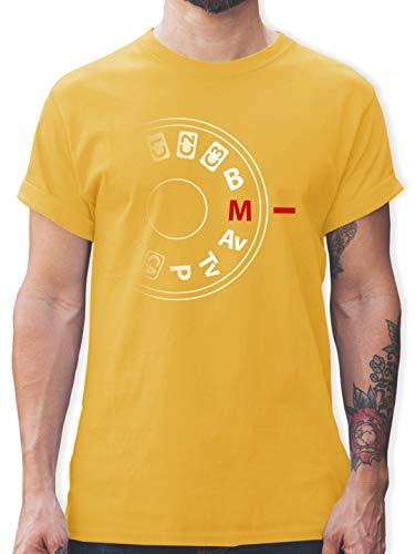 Fotografen - Kamera Einstellrad - S - Gelb - Shirt Kamera Mann - L190 - Tshirt Herren und Männer T-Shirts