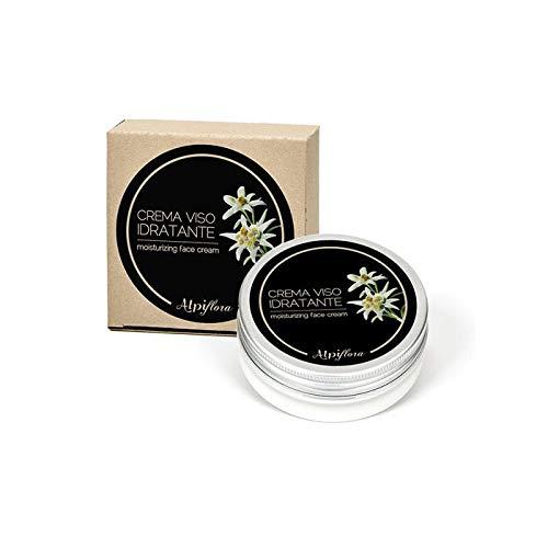Alpiflora - Crema viso idratante 50 ml all'estratto di Stella Alpina con Malva, Calendola, Camomilla, Piantaggine e Achillea.
