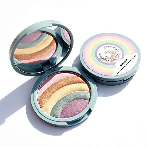 Sunnyushine 5 Couleurs Palette De Fard À Paupières Chatoyante, Plateau Multifonctionnel De Fard À Paupières Multifonctionnel avec Panneau Miroir De Maquillage Et De Maquillage
