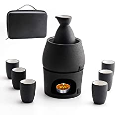 Perfect Sake Set Warmer Tool, Traditional Japanese sake drinks focus on O-Kan Sake (warm saki sake drinks.) Lyty sake warmer set is a perfect sake tool for your favourite sake. Antiskid Surface, the sake warmer set has a unique black pottery surface ...