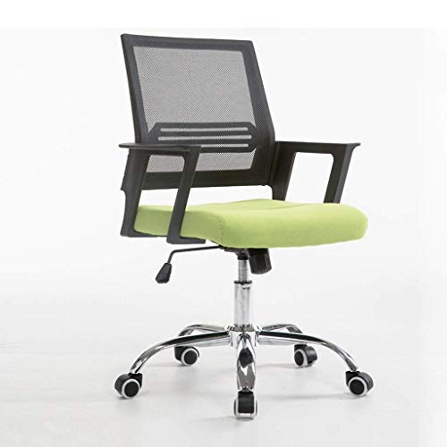 WY office chair Computer system chair back durable and easy to wash back restaurant chair back club chair back night club office chair ( Color : GREEN )