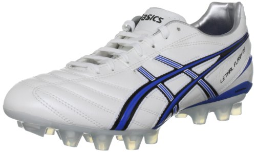 Asics Lethal Flash Ds It, Scarpe da calcio Uomo, Bianco (White/Orion Blue/Black), 41.5 EU (7 UK)
