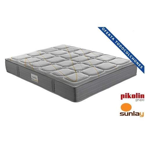 Sunlay – Colchón MALBA (Muelle ensacado + Viscoelástica) – (Pocket Spring + Memory Foam Mattress) - (150x190 cm)