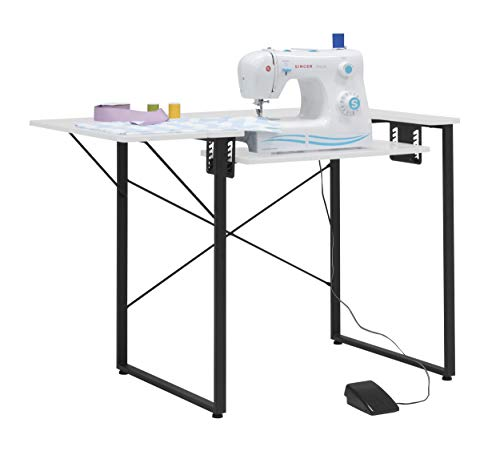 small Ready to sew a wooden / metal table for a multipurpose machine workbench.