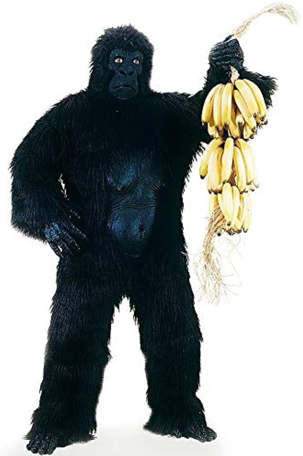 Carnival Toys 25905 - Gorilla Men's Costume, Head and Feet Separate