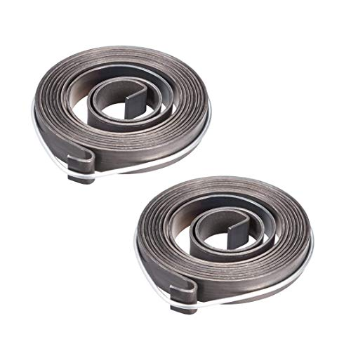 YeVhear - Taladro de muelle con muelle y pluma de alimentación, retorno, muelle helicoidal montado, muelle de acero, acabado de negro químico 1540 mm, extender 59 x 10 x 1,2 mm, 2 unidades