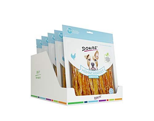 DOKAS Getreidefreier Premium Snack in Streifen für Hunde – Ideal für zwischendurch, 5 x 500 g