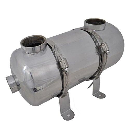 vidaXL Intercambiador Calor Calentador Piscina 40 kW Calefactor Agua Jacuzzi