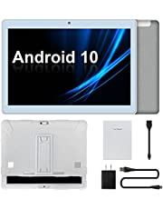 """Tablet 10 inch, Android 10 Tablets, Octa Core Processor, Up to 1.8Ghz, 2GB RAM 32GB ROM, 10"""" IPS 1280x800 Display, 5MP Rear Camera, 2.4G&5G Wi-Fi, Bluetooth 4.2, 6000mAh Battery"""