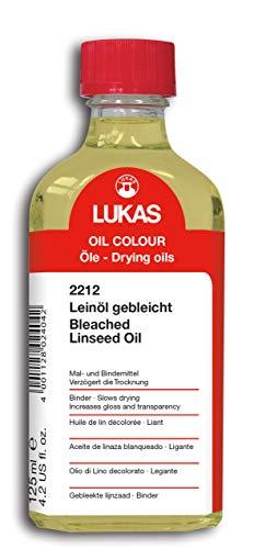 LUKAS Malmittel für die Ölmalerei - Leinöl gebleicht in 125 ml