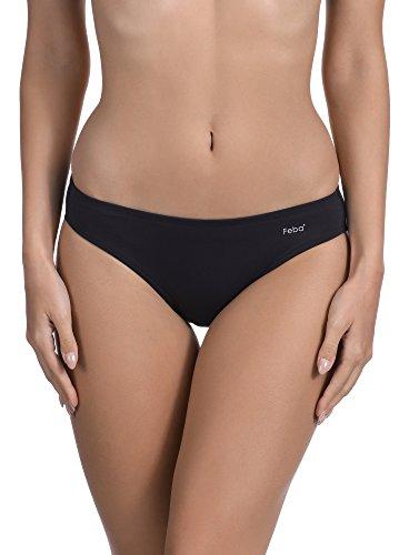 Feba Pezzo sotto per Bikini da Donna Figi (Nero, EU 42 = IT 48)