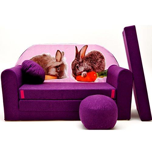 G1-b Canapé pour Enfants Enfants Bébés Mini Canapé bébé Canapé lit Pouf Lot de 3 en 1 d'oreillers en Mousse