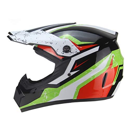 Generic Motorradhelm Winter Integralhelm mit Innenvisier Jet Retro Capacete Casque Moto Helm Motocross Helmbrille und Handschuhe