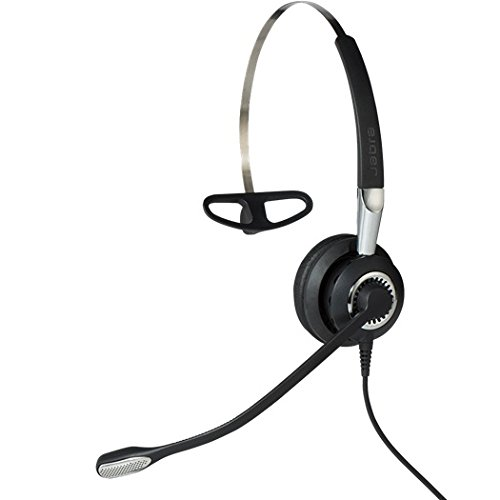 Jabra Biz 2400 II QD Mono leichtes Call-Center-Kabel-Headset für Unify OpenStage, 3-in-1-Tragestil, NC, Wideband