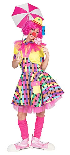 Clown Flicka Kostüm für Damen, Mehrfarbig, 44-46