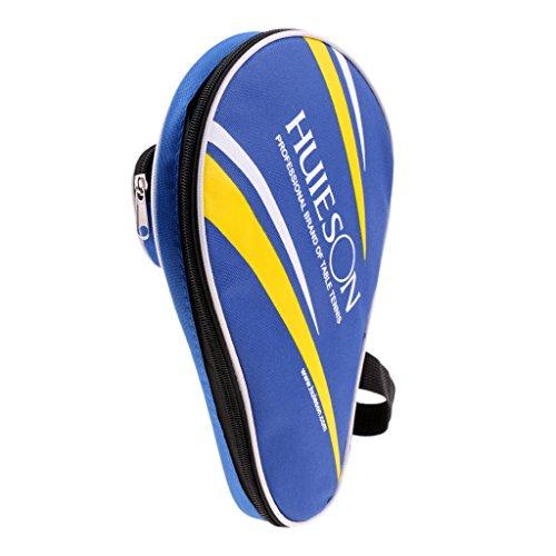 perfk Tischtennis-Tasche/Tischtennis-Hülle für Tischtennisschläger und Tischtennisbälle - Blau