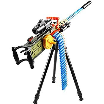 RSTJ-Sjef Electric Heavy Machine Gun Toy for Child Hand-in-One M2 Soft Bullet Gun with Bullet Chain and Accessories Ideal for Stimulating Children s Fun