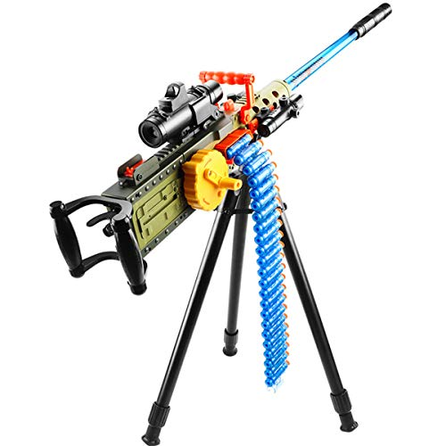 RSTJ-Sjef Electric Heavy Machine Gun Toy for Child, Hand-in-One M2 Soft Bullet Gun with Bullet Chain and Accessories, Ideal for Stimulating Children's Fun