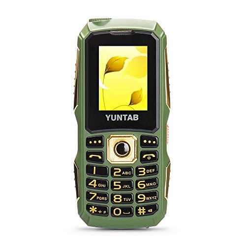YUNTAB C12 1.77 Zoll 2G Smartphone Mobile Phone Senior Grosse Tasten SOS Grün