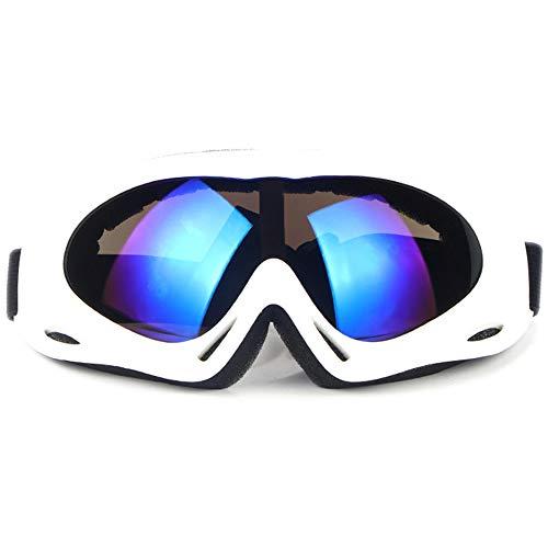 SENDILI Gafas de Esquí - Gafas de Esquiar para Unisexo, Snowboard Resistentes al Viento, Lentes Anti-Reflejo (Blanco)