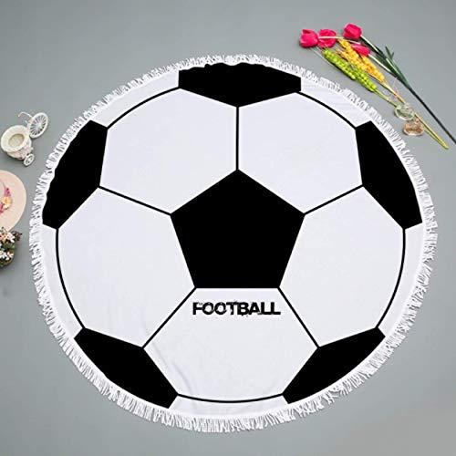 GermYan Toalla de Microfibra de fútbol Borlas de fútbol Toalla de Playa Redonda para Adultos Manta de Bloqueador Solar