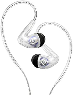 Audiofly AF100 MK2 Universal in-Ear Monitor w/Super Light Twisted Cable (Clear) 3.5mm Headphone Jack, Dual Driver, Over Th...