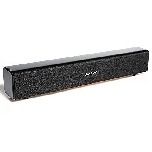 ZWMM Altavoces Ordenador,Barra Sonido Pc Altavoz de TV Bluetooth 4.0 Viruta Auto del Sueño 2 Modos De Sonido Estéreo 3D Totalmente Compatible con El Sistema NE/Android/Apple