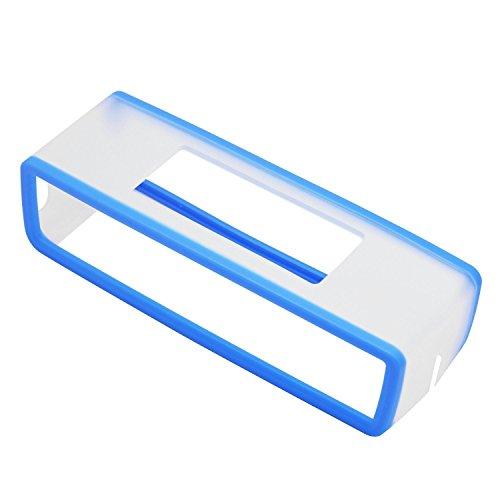 VPOWER Abdeckung Hülle für Bose Soundlink Lautsprecher Mini 2 Silikon Soft Case Cover in transparent Hellblau