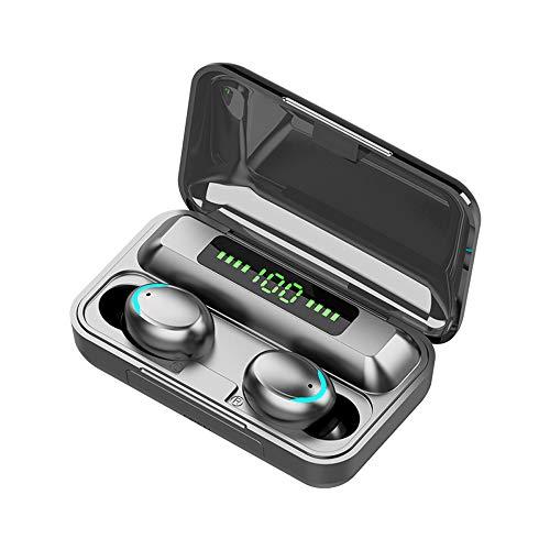 Auriculares inalámbricos Bluetooth 5.0, pantalla LED, impermeables, con cancelación de ruido, para Apple iPhone, Android, Samsung, color negro