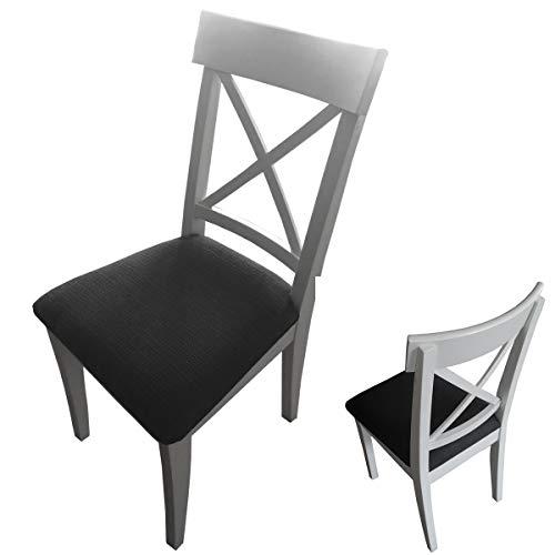 Ingolf Stuhl aus Massivholz Holzstuhl Weiß Stuhl Küchenstuhl Esszimmer Kissen (Weiß)