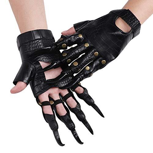 Guantes clidos guantes de invierno guantes de pantalla tctiles al aire libre a prueba de viento monstruo guantes de halloween disfraz de halloween animal dragn garra guantes cosplay cuero guantes d