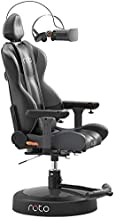 Roto VR Motorized Interactive Gaming Chair Plus Accessories Bundle - Fully Immersive Technology - Auto Turns Where You Look - Ergonomic Virtual Reality Games Chair for Use with VR Headsets - Black
