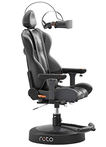 Roto VR Motorized Interactive Gaming Chair - Auto Turns to Where You Look - with Immersive Rumble Te