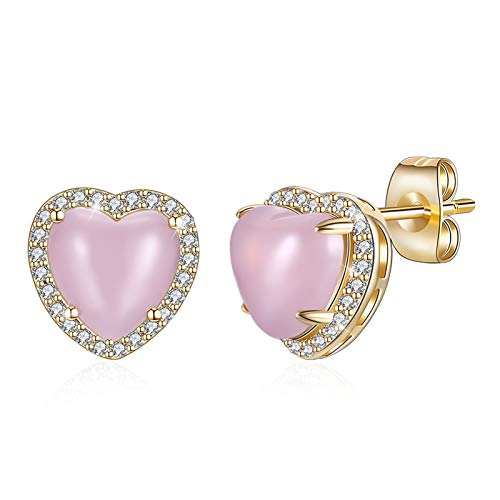 ANAZOZ Damen Ohrring Herz Ohrstecker Kupfer Ohrschmuck Geschenke für Frauen