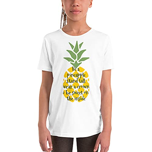 Be A Pineapple Motivational Inspirational Quote Be Kind Youth Short Sleeve T-Shirt Tee Top