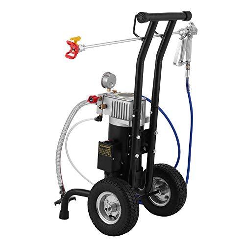 VEVOR Pulverizador de Pintura Eléctrica, 0,9 kW 15mx2 Mangueras Pistola Pulverizadora sin...