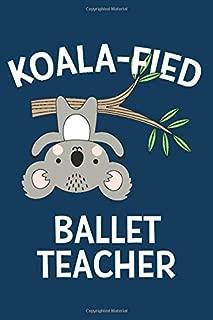 Koalafied Ballet Teacher: Koala Blank Lined Notebook Journal For Dance Teachers | Funny Cute Pun Christmas, Appreciation, Or Recital Gift