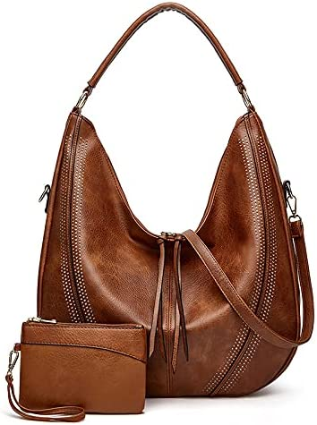 Handbags for Women PU Leather Shoulder Bags Fashion Hobo Bags Large Purse Faux Leather