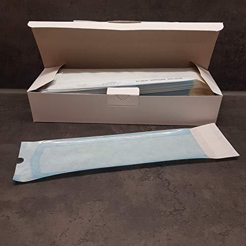 200x Sterilisationsbeutel mit SK-Verschluß Sterilisier-Beutel Steribeutel für Autoklaven verschiedene Größen (75x250mm)