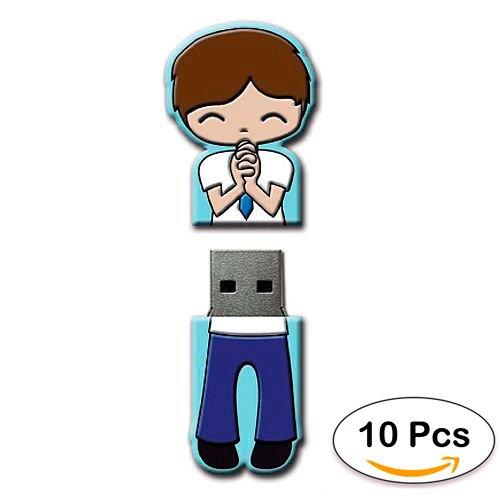 Lote 10 Memorias USB COMUNIÓN NIÑO 4GB - Pendrives,