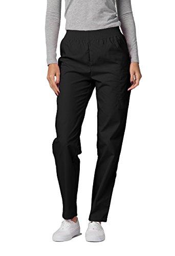 Adar Pantalones Médicos - Pantalones de Uniforme Médico para Mujeres - 503 Color: BLK | Talla: L
