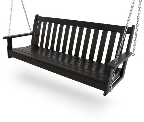 POLYWOOD GNS60BL Vineyard 60' Swing, Black