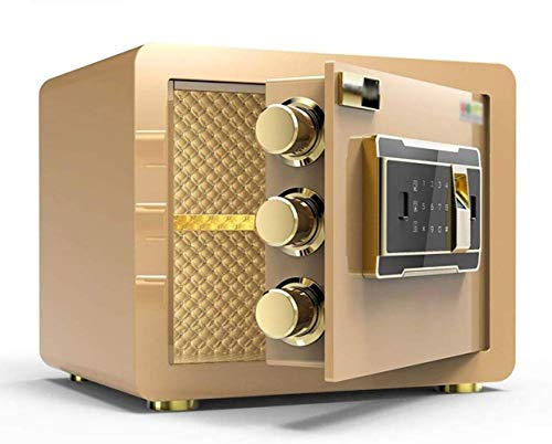 Safes Safe Box for Safety Cabinet Local Gold Electronic Password Fingerprint All Steel Wall Safety Deposit Box Geschikt voor: Kantoor/huis/financiën Safebox A