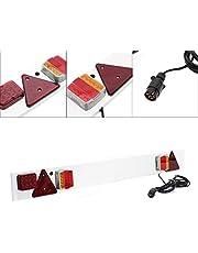 Listón LED iluminación remolques 7polos, 137cm, 12V, luz trasera, frenos, intermitente, matrícula